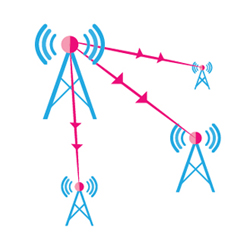 Point to multipoint point Connection